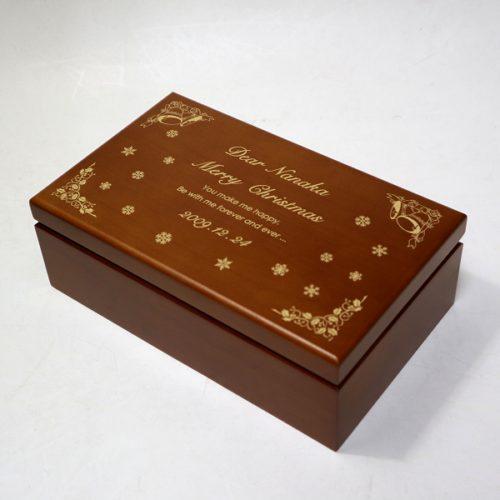 木製宝石箱OR063レーザー加工見本